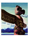 """Totem Pole,"" January 31, 1942 Giclee Print by John Clymer"
