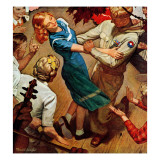 """Barn dance,"" November 25, 1944 Giclee Print by Mead Schaeffer"