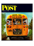 """School Bus,"" Saturday Evening Post Cover, September 22, 1962 Giclee Print by Erik Blegvard"