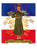 """You're in the Army Now,"" February 1, 1941 Giclee Print by Albert W. Hampson"