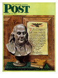 """Ben Franklin, 1944,"" Saturday Evening Post Cover, January 15, 1944 Giclee Print by John Atherton"