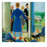 """Home Showing,"" May 26, 1962 Giclee Print by George Hughes"