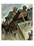 """Corp of Engineers,"" October 28, 1944 Giclee Print by Mead Schaeffer"