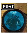 """""""Sealab Diver,"""" Saturday Evening Post Cover, September 5, 1964 Giclee Print by Robert Barth"""