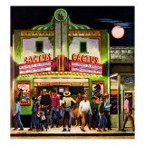 """Cactus Theater,"" September 18, 1948 Giclee Print by John Falter"