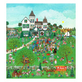 """Lawn Party,"" August 1, 1974 Giclee Print by J. Sickbert"