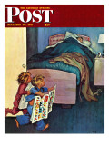 """Sunday Funnies,"" Saturday Evening Post Cover, December 20, 1947 Giclee Print by Jack Welch"