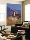 Cowgirl Riding a Trail in the Big Horn Mountains, Shell, Wyoming, USA Wall Mural by Joe Restuccia III