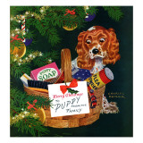 """Doggy Basket,"" December 19, 1942 Giclee Print by Charles Kaiser"