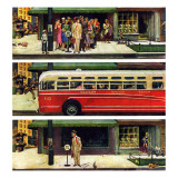 """Missed the Bus,"" September 10, 1949 Giclee Print by Thornton Utz"