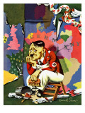 """Hitler as Wallpaperer,"" July 31, 1943 Giclee Print by Ken Stuart"