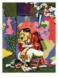 """Hitler as Wallpaperer,"" July 31, 1943 Giclee Print by Ken Stuart"