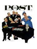 &quot;The Fat Lady Sings,&quot; Saturday Evening Post Cover, December 16, 1961 Giclee Print by Richard Sargent