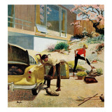"""""""Rock Garden,"""" April 22, 1961 Giclee Print by George Hughes"""
