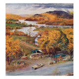 """Roadside Vegetable Stand,"" September 9, 1961 Giclee Print by John Clymer"