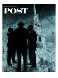 """Mafia in Boston,"" Saturday Evening Post Cover, November 18, 1967 Giclee Print by David Attie"