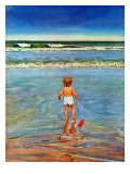 """Baby at the Beach,"" July 23, 1949 Giclee Print by Austin Briggs"