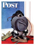 """Go for A Walk,"" Saturday Evening Post Cover, October 7, 1944 Giclee Print by Albert Staehle"