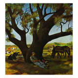 """Sleeping Farmer,"" August 23, 1947 Giclee Print by John Atherton"
