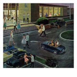 """Prom Dates in Parking Lot,"" May 19, 1962 Giclee Print by Ben Kimberly Prins"