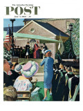 """College Graduation,"" Saturday Evening Post Cover, June 4, 1960 Gicléetryck av Thornton Utz"
