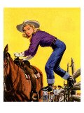 """Woman at Dude Rance,"" June 20, 1942 Giclee Print by Fred Ludekens"