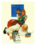 """Santa and the Robot,"" December 1, 1983 Giclee Print by Scott Gustafson"