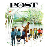 """Distracted Hikers,"" Saturday Evening Post Cover, March 24, 1962 Giclee Print by George Hughes"