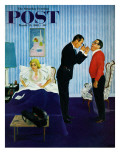 &quot;House Call,&quot; Saturday Evening Post Cover, March 25, 1961 Reproduction proc&#233;d&#233; gicl&#233;e par George Hughes