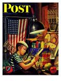 """Model Airplanes,"" Saturday Evening Post Cover, December 9, 1944 Reproduction procédé giclée par Stevan Dohanos"