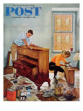 """Refinishing an Heirloom,"" Saturday Evening Post Cover, September 24, 1960 Giclee Print by George Hughes"