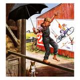 """""""Walking the Tightrope,"""" June 11, 1949 Giclée-Druck von Stevan Dohanos"""