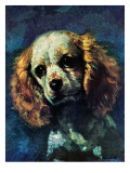 """Cocker Spaniel,"" March 1, 1975 Giclee Print by L. Mayer"