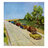 """Highway Patrol,"" July 16, 1949 Giclee Print by Jack Welch"