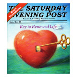 """Heart,"" Saturday Evening Post Cover, Sept/Oct 97 Giclee Print by Allen Grans"