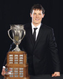 Jeff Skinner with the Calder Memorial Trophy Photo