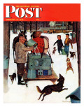 """Maple Syrup Time in Vermont,"" Saturday Evening Post Cover, February 17, 1945 Giclee Print by Mead Schaeffer"