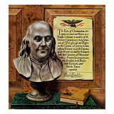 """Ben Franklin, 1944,"" January 15, 1944 Giclee Print by John Atherton"