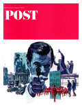 """The Assassin,"" Saturday Evening Post Cover, September 10, 1966 Giclee Print by Mitchell Hooks"