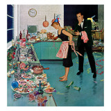 """After Party Clean-up,"" January 2, 1960 Giclee Print by Ben Kimberly Prins"