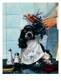 &quot;Butch&#39;s Haircut,&quot; January 31, 1948 Giclee Print by Albert Staehle