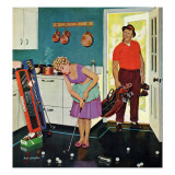 """Putting Around in the Kitchen,"" September 3, 1960 Lámina giclée por Richard Sargent"