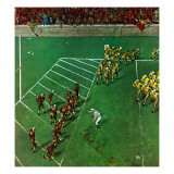 """Third Down, Goal to Go,"" October 15, 1949 Gicléetryck av Thornton Utz"