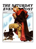 """""""Re-print of """"George Washington at Valley Forge"""","""" Saturday Evening Post Cover, November 1, 1975 Giclee Print by J.C. Leyendecker"""