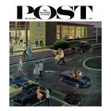 &quot;Prom Dates in Parking Lot,&quot; Saturday Evening Post Cover, May 19, 1962 Giclee Print by Ben Kimberly Prins