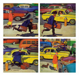 """Rush Hour (4 panel),"" October 21, 1961 Giclee Print by Richard Sargent"