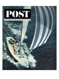 """America's Cup,"" Saturday Evening Post Cover, August 22, 1964 Giclee Print by John Zimmerman"