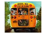 """School Bus,"" September 22, 1962 Giclee Print by Erik Blegvard"