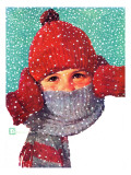 """Bundled Up,"" Jan/Feb 98 Giclee Print by Douglas Crockwell"