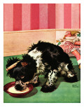 """Clothespinned Butch,"" February 10, 1945 Giclee Print by Albert Staehle"